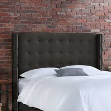 buy button tufted linen wingback headboard size california king