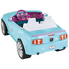 barbie power wheels power wheels disney frozen ford mustang clk46 blue purple