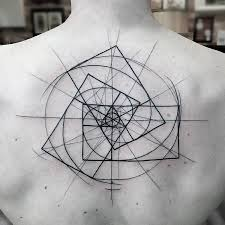 line work awesome upper back spiral tattoo golfian com