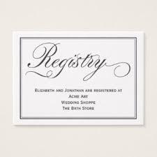 bank wedding registry white wedding registry business cards zazzle au