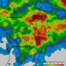 Satellite Weather Map More Flooding Rainfall In Madagascar Precipitation Measurement