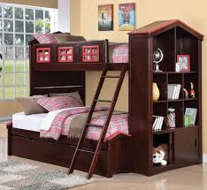 Loft Bed With Trundle Twin Over Full Bunk Bed With Trundle - Stairway bunk bed twin over full
