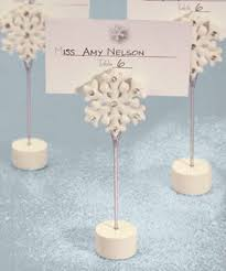 snowflake place card holders price favors