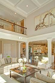 two story family room with coffered ceiling google search