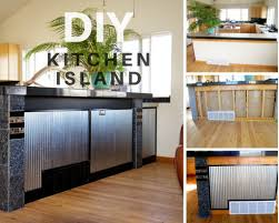 kitchen island with rustic 1 14 corrugated metal metal accents