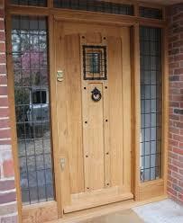 Oak Exterior Doors Contemporary Wooden Front Doors Pertaining To External Solid Oak