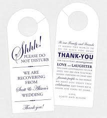 hotel door hanger template 25 wedding door hangers ideas on weddings at the
