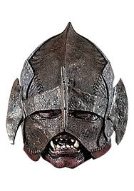 Lord Rings Halloween Costume Deluxe Lord Rings Uruk Hai Mask