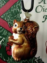 merck squirrel discontinued blown glass ornament