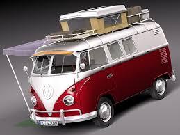volkswagen camper van rebusmarket high quality 3d models