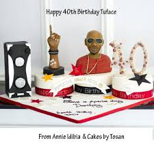 massive cake annie idibia got for husband 2face u0027s 40th birthday is