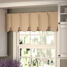 How To Make A Ruffled Valance Solid Valances U0026 Kitchen Curtains You U0027ll Love Wayfair