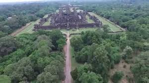 silent dronie selfie drone clip from angkor wat get your first