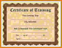 training certificate template training jpg letter template word