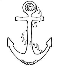 musical anchor outline tattoo stencil tattooshunter com