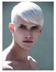 low haircut for men with different platinum hair style for men