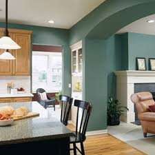 beautiful wall color foriving room with wood furniture colors