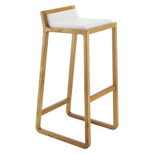 uk bar stools joe solid oak bar stool with leather upholstered seat buy now at