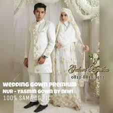 wedding dress syari baju nikah muslimah modern yasmin wedding gown made by order
