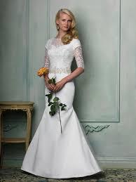 modest wedding dresses 3 4 sleeves naf dresses