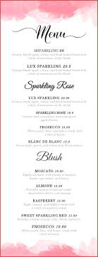 wedding bar menu template wedding menu template personel profile