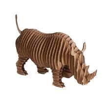 trophee elephant carton rambling robbie rhino by cardboard safari trophée animaux
