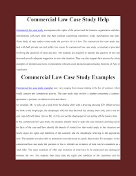 who provides number of commercial law case study examples by