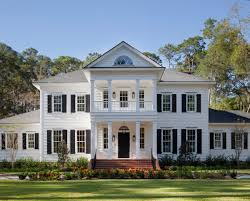 white exterior with shutters amazing entry with second floor