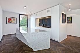 Kitchen Island Alternatives by Decorating Ideas Contemporary Chic White Sleekmarble Kitchen