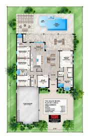 1 storey house floor plan with perspective