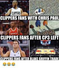 Blake Meme - clippers clippers fans with chris paul rockets clippers fans after