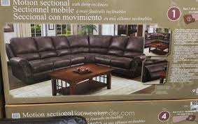 Costco Recliners Motion Sectional With Three Recliners Costco Weekender