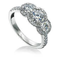 3 halo engagement rings vintage inspired halo ring with brilliant diamonds perfectly