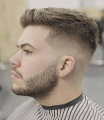 awesome short hairstyles for men with beard decorations