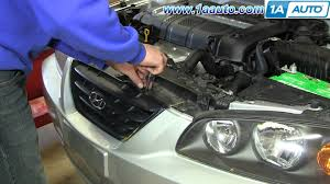 hyundai elantra 2005 headlight bulb how to remove install front grill 2001 06 hyundai elantra