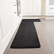 Black Kitchen Rugs Kitchen Rug Set Leevan Memory Foam Kitchen Comfort