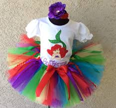 green red rainbow ariel mermaid birthday tutu