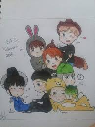 bts halloween drawing army u0027s amino