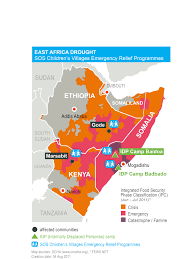 Map Of East Africa by East Africa Survival Is All That Counts Sos Children U0027s Villages