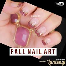 easy thanksgiving nail art designs easy nail art for beginners fall nail art tutorial gold