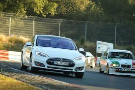 tesla model s runs a long distance race on the u0027green hell u0027 of the