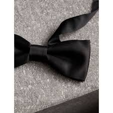 silk bow tie in black burberry united kingdom
