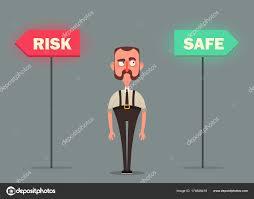 employé de bureau employé de bureau choisir risque ou danger image vectorielle