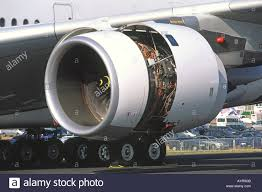 rolls royce jet engine rolls royce trent 900 jet engine detail on an airbus a380 stock