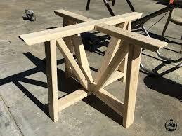 diy round farmhouse table diy round trestle dining table hometalk