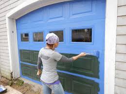Black Exterior Gloss Paint - garage doors dreaded garage door paint photo concept gallery 016