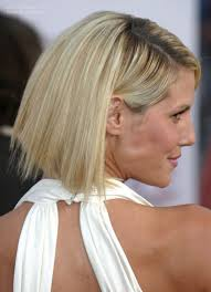 hair styles just abovethe shoulders heidi klum with her hair in a just above the shoulders chopped bob