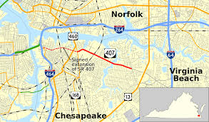 Norfolk Virginia Map by Virginia State Route 407 Wikipedia