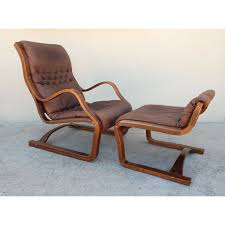 modern armchair with ottoman mid century modern armchair with its ottoman esko pajamies 1960s