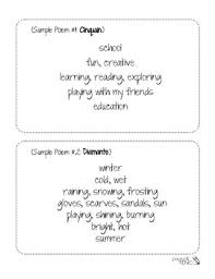 center worksheets diamante haiku cinquain limerick acrostic